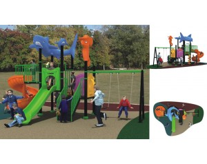 Ocean Theme plastic playground equipment