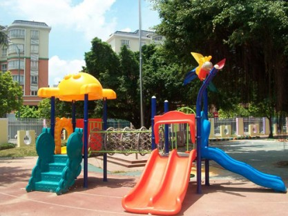 plastic outdoor slides