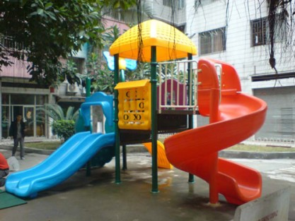 plastic swings and slides
