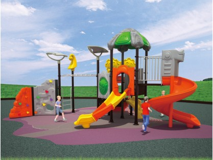 Plastic kids outdoor playsets