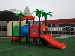 plastic commercial playground