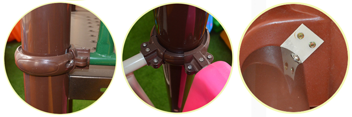 fastener on outdoor playground