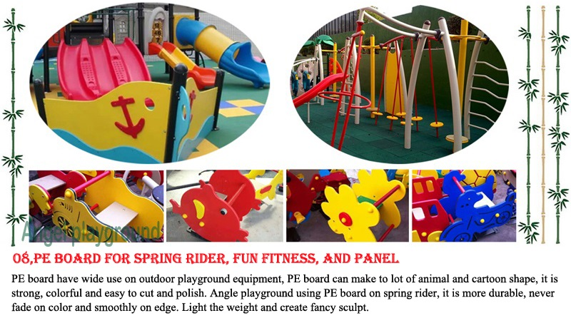 material for outdoor slide