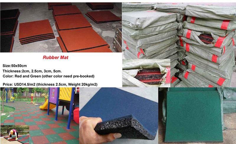 rubber mat for outdoor playground