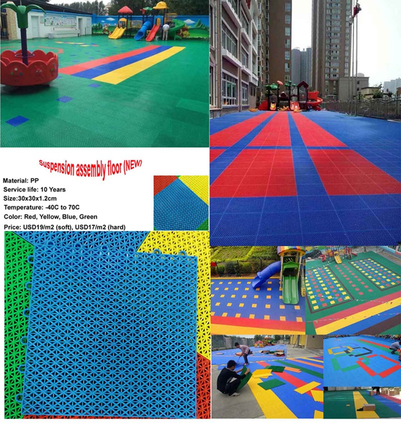 kids outdoor playsets - rubber mat2-1